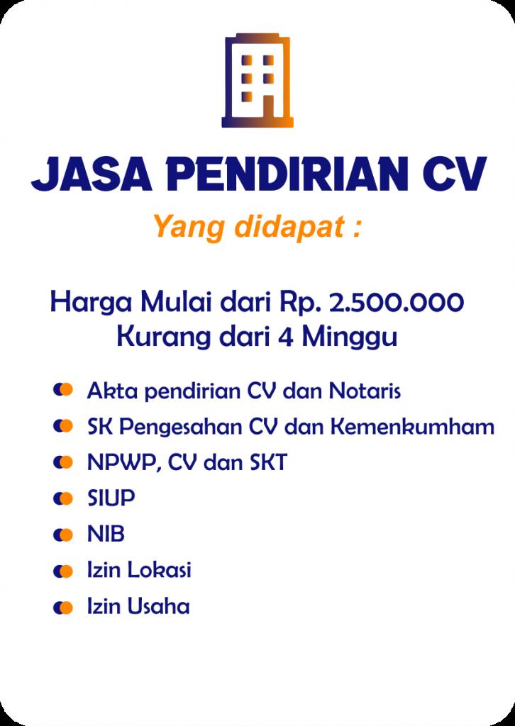Jasa Pembuatan CV Pontianak